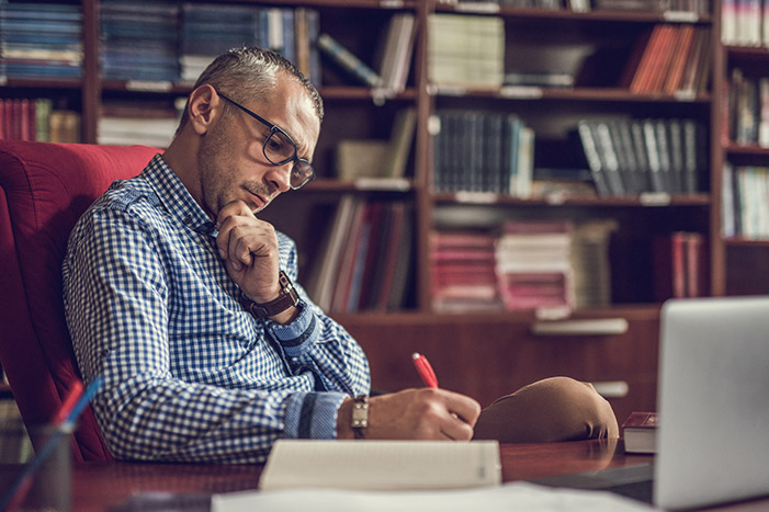 Journaling at Desk