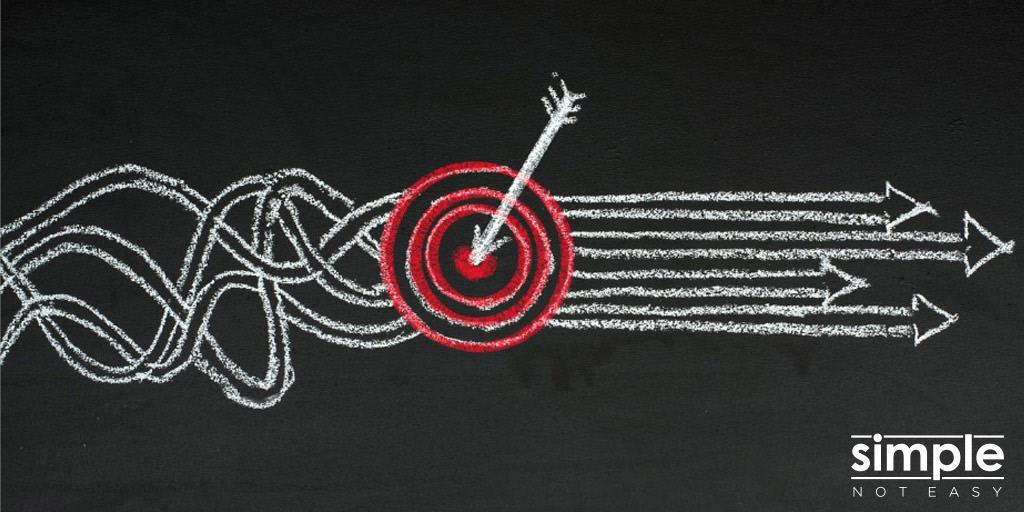 Simple Not Easy Bullseye