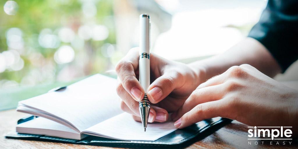 Weekly Journaling - Simple Not Easy
